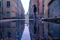 Inception (Fredrik Lindedal) Tags: reflection reflections city cityscape cityview streetview street streetvision streetart water gothenburg göteborg church buildings sweden sverige lindedal