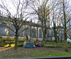 MANCHESTER CATHEDRAL = WITH TENT OUTSIDE = SAD 😢😢 (rossendale2016) Tags: manchester cathedral homeless tent lancashire sleeping snow cold abandoned wet grass rain bag frost rich poor impoverished council unwanted temporary damp perament city england food church trolley centre small supermarket northern accomodation canvas warm central heat bible service hymn congregation pulpit heating old building religious ornate vicar ground ropes zip nylon zipped home fire sleep sheet thin pegs groundsheet drink starving wood metal begging donations beg donate music dog guitar plastic out down tower pole