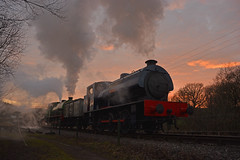 End of the day (DaveStubbings) Tags: foxfield foxfieldcolliery foxfieldrailway whiston wimblebury austeritytank steamengine steamlocomotive steamtrain train railway preservation preserved preservedrailway heritage 3p20