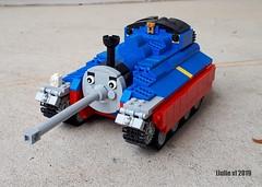 Thomas the Tank ([Julie v]) Tags: thomas tank engine lego misunderstoodcharacters whathaveidone