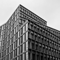 Building Abstract #122 (Joseph Pearson Images) Tags: building architecture abstract london zigzagbuilding lyncharchitects square blackandwhite mono bw