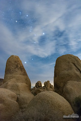 Night at Campsite 9 (kevin-palmer) Tags: joshuatree nationalpark joshuatreenationalpark california desert december winter night sky dark space astronomy astrophotography clouds orion boulders whitetank campground nikond750 tamron2470mmf28 stars starry astrometrydotnet:id=nova3860963 astrometrydotnet:status=solved