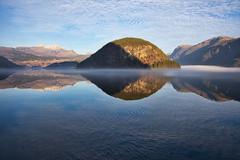 Autumn-silence.jpg (EKr2013) Tags: norway norwegiannature hardanger hardangerfjord autumn nature landscape mirror nice fjord ulvik fjordnorway silece ulvikfjord canon eos mist mirroring