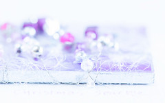 Never let anyone dull your sparkle (judi may) Tags: macromonday macro macromondays redux2019 sparkle sparkly handmade highkey pastel softness soft pastelcolours christmas christmascard tabletopphotography closeup canon5d handcrafted imadethis white bokeh dof depthoffield shallowdepthoffield