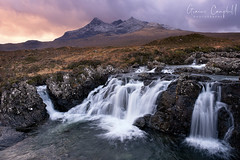Skye Fall (gcfotographos) Tags: ngc scotland alba skye water hills cuillin isleofskye clouds landscape uk britain europe sunrise snow cold sligachan river fujifilm xt2