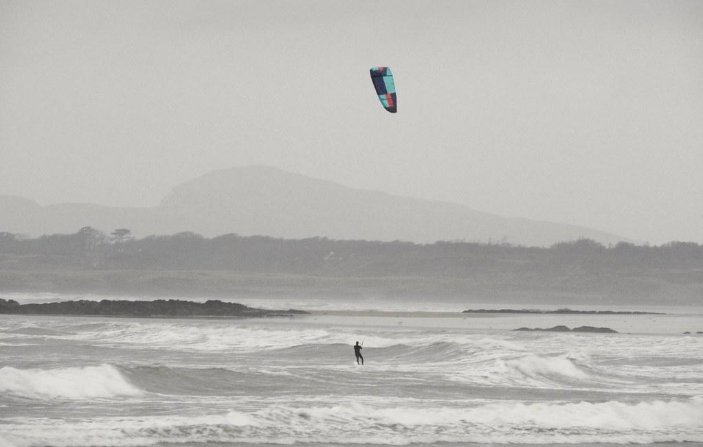 A lone Kite surfer.