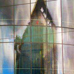 monolith (msdonnalee) Tags: reflection reflejo reflisse abstract highrise architecture window fx windowreflection reflet refleccione pixlr gimp corel digitaleffects