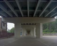 Siemianowice Śląskie, Poland. (wojszyca) Tags: mamiya rz67 6x7 120 mediumformat 75mm shift kodak portra 160 epson v800 city urban concrete viaduct architecture engineering urbanlandscape symmetry bleak mundane