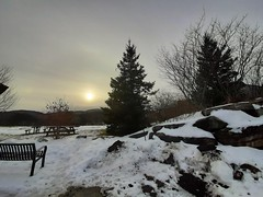 peaceful scene in the mountains of Vermont yesterday (angelinas) Tags: trees snow winter vermont sky sun moody mood peaceful namaste outdoor afternoon mountain greenmountains landscapes paysages paesaggi usa usalandscapes northamerica neige nature