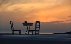 Chairs of Santorini no.3 (Bela Bodo) Tags: santorini chair wall sky cloud sun see blue yellow white shadow space weekend travel