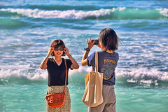 Capturing the Moment (ashockenberry) Tags: exotic reserve travel tourism destination beautiful beauty natural majestic landscape people portrait pose women ladies purse beach sun surf sand vacation ocean pacific oahu hawaii waikiki ashleyhockenberryphotography