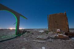 When The Walls Come Tumbling Down (Nocturnal Kansas) Tags: night nocturnal moon full california sea salton spa day d800 nikon led1 protomachines lightpainting longexposure nightphotography