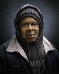 Marvin- (mckenziemedia) Tags: man portrait portraiture face smile hood hat stockingcap people humanity chicago city urban street streetphotography homeless homelessness
