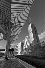 On the way back home (lebre.jaime) Tags: urban architecture people railwaystation railway platform lisbon portugal digital bw blackwhite noiretblanc nb pb pretobranco ptbw nikon d600 nikkorafs1735f28d affinity affinityphoto