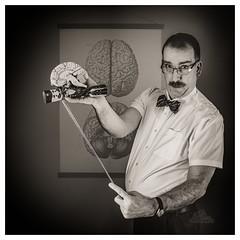 Your Brain on Crack-ers (_Matt_T_) Tags: cracker selfie portrait christmas lesson biology brain af540fgz apolloorb43 smcpfa35mmf20al professor 365 westcott cactusv6 teacher bw