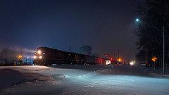 CP293 at MN&S Junction (shawn_christie1970) Tags: crystal minnesota unitedstatesofamerica cpr train night winter snow cp293 cp8519 cp8810 ge ac44cw es44ac manifest