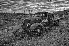 Deteriorating Dodge (B&W) (PNW-Photography) Tags: dodge truck rusty dusty old rust dust vintage classic abandoned derelict deteriorating decay automobile auto pickup washington easternwashington naches