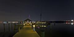 Dockside (Aperturef64) Tags: alexandriava potomacriver potomac oldtownalexandria docks pentax pentaxart nightshot nightscene longexposure cityscape holidaylights torpedofactory cityatnight