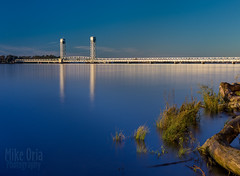 Rio Vista Bridge (mikeSF_) Tags: helenmadere memorial bridge riovista california silver river sacramento sanjoaquin mokelumne solano contracosta usa landscape goldenhour metallic metal reflection nd filter longexposure mikeoria wwwmikeoriacom pentax dfa55 55mm 55