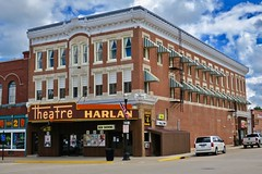 Harlan Theatre, Harlan, IA (Robby Virus) Tags: harlan iowa theatre ia theater building architecture marquee cinema movie movies fourplex