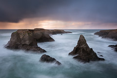 Headspace (Bob Bowman Photography) Tags: seascape landscape longexposure sea ocean nikon seastacks clouds mendocino california sunset rain