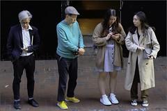 """""""Waiting at the Bus Stop"""" Central, Hong Kong, China (December 2019) (Kommie) Tags: central hong kong china people candid street photography fujifilm xt3 fujinon 90mm f2 r velvia"""