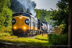 The Final Goodbye (dscharen) Tags: funits fp9s gp20 illinois kjry keokukjunction mapleton trains streamliners pioneerrailcorp keokukjunctionrailway centralillinois