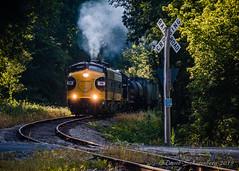 Smoke 'Em If Ya Got 'Em (dscharen) Tags: funits fp9s gp20 illinois kjry keokukjunction mapleton trains streamliners pioneerrailcorp keokukjunctionrailway centralillinois