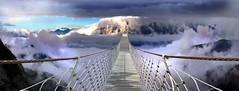 sincronizziamo gli orologi (art & mountains) Tags: alpi alps cime cresta nuvole spazio volare bridge respiro vertigo proiezione lancio cielo sospesi vision dream spirit art