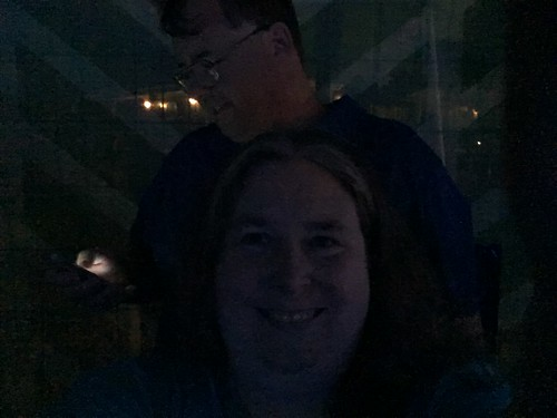 Daft Selfie in Dark Catches Mike on Phone