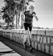 Fitgirl (Bart van Hofwegen) Tags: woman fit run sports exercise street streetphotography city citystreet citylife urban urbanphotography urbanlife málaga malaga blackandwhite monochrome