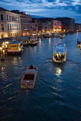 Grand Canal-Rialto (Nigel Musgrove-3 million views-thank you!) Tags: grand canal rialto venice italy italia venezia veneto gondola gondolier boat tourist dusk evening night shark