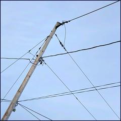 Criss-Cross (Timothy Valentine) Tags: 1219 large highkey sky pole telegraphtuesday lines 2019 whitman massachusetts unitedstatesofamerica