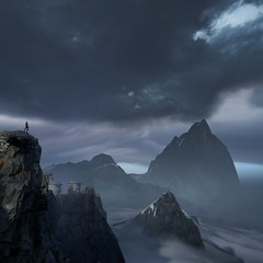 ''Cloud Of Unknowing'' (HodgeDogs) Tags: mountain clouds people ea inexplore nvidia pc games gaming fransbouma larahjohnson explore starwars photography