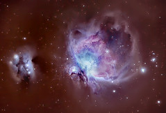 Orion M42 and Running man (Franck Zumella) Tags: sony a7s m42 orion nebula astro astrophoto astronomie astronomy telescope sky ciel deep noir black profond nebuleuse galaxy galaxie running man a7 tamron 150600