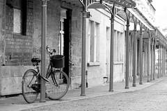 Bike (sgreen757) Tags: stroud glos gloucestershire street photography fuji fujifilm x30 digital bike bicycle cycle chained locked pillars town centre