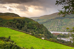 View from my backyard between showers at sunset - Caragh Lake - Ireland 2019 (Wilma v H- Thanks for your comments and faves!) Tags: caraghlake iveragh mcgillycuddyreeks iveraghpeninsulaireland oulaghwest countykerry kerry munster ireland2019 ireland 2019 eire irishlandscape irishmountains canoneos60d sigma50mmf14dghsmart luminositymasks tkactionsv7panel sunsets clouds gorse heather holiday irishlakes killorglin goldenhour pastures greenfields