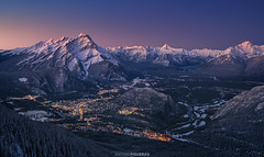 Banff (Antoni Figueras) Tags: banff banffnationalpark alberta canada rockies rockymountains sulphurmountain sunset dusk panorama viewpoint night traveldestination snow october antonifigueras sonya7riii