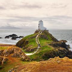 Twr Mawr (Arni J.M.) Tags: architecture lighthouse path twrmawr ocean sky island coast clouds angelsey wales uk