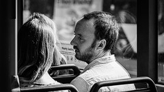 I only have eyes for you (Chris (a.k.a. MoiVous)) Tags: streetphotography adelaidecbd streetlife commuters