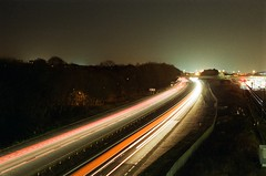 The A5 (Jim Davies) Tags: miltonkeynes fujinatura fuji natura 35mm olympus om10 1600asa asa 1600 lightpainting light painting slr 50mm buckinghamshire longexposure lightpaint lightpaintingphotography longexposures night nightphotography experiment analogue film
