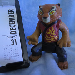 Today Is a Gift (Coyoty) Tags: crazytuesday presents gift today present time date calendar square tigress kungfupanda december31 newyearseve holiday number tiger toy macro bokeh squareformat blue orange brown day black red yellow colors wordplay pun wisdom