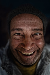 The Aging Waiter (Portraits By Karim) Tags: photographer portrait portraits professional egypt egyptian cairo colors faces face documentary black blackandwhite innocence waiter art artistic aging man giza