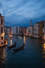 Grand Canal-Rialto (Nigel Musgrove-3 million views-thank you!) Tags: grand canal rialto venice italy italia venezia veneto gondola gondolier boat tourist dusk evening night