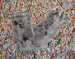 Ma seconde peau ! (Jean-Jacques Peyre) Tags: chaussette épiderme abstraction aquarelle plume art couleur lignes courbes désign peau taches