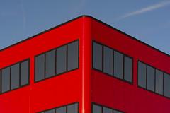 Corner of a red office (Jan van der Wolf) Tags: map20018v red office building gevel gebouw architecture architectuur windows ramen corner hoek hoofddorp redoffice