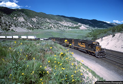 Trailers and Tunnel Motors (jamesbelmont) Tags: locomotive railway railroad trainsn intermodal piggyback containers trailers zdvro sd50 sd40t2 emd soldiersummit gilluly drgw riogrande