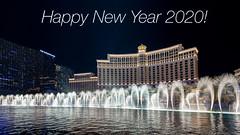 Best wishes for 2020 to all my Flickr friends (kleiner_eisbaer_75) Tags: las vegas nevada usa bellagio fontäne wasserspiel nachtaufnahme night lasvegasstrip nachts travel reisen boulevard