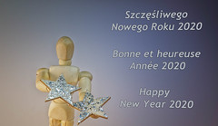 Happy New Year (@magda627) Tags: wood word fun composition color art magic people sony 2020 happynewyear light newyear2020 stars smile edit coth5 text anteketborkacom silver playing lightanddark closeup colors toy ny2020 lightroom detail