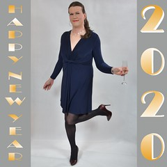Happy New Year! (Rikky_Satin) Tags: crossdresser crossdress crossdressing transvestite transgender tranny transformation transformed m2f mtf feminization pantyhose highheels pumps